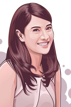 Indonesian Actress Time-lapse video: https://www.youtube.com/watch?v=wZRI10vPlP8  This is an Adobe Illustrator portrait of Dian Sastrowardoyo, an Indonesian model and actress.