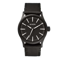 Nixon: The Sentry 38 Leather - black/white $150