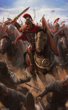 Choose your favorite roman soldier paintings from millions of available designs. All roman soldier paintings ship within 48 hours and include a money-back guarantee. Ancient Rome, Ancient Greece, Ancient History, European History, Ancient Aliens, American History, Greek Warrior, Fantasy Warrior, Alter Krieger