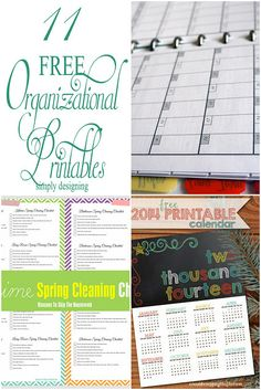 11 FREE Organizational Printables | #printables #free #organization