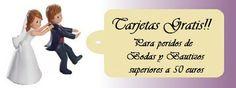 Tarjetas Gratis para todos los clientes que compren sus detalles de boda en daeryregalos. Ya no es necesario llegar a los 50 euros de compra