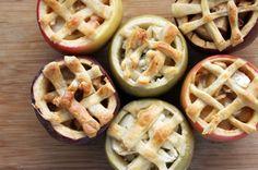 Cheddar Apple Pie... in an apple!