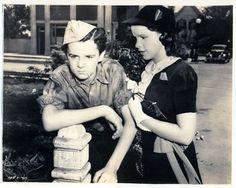 """Freddie Bartholomew and Judy Garland in """"Listen, Darling."""""""