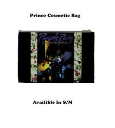 Prince Cosmetic Bag Cosmetic Bag Make Up Bag by VeronicasShowcase