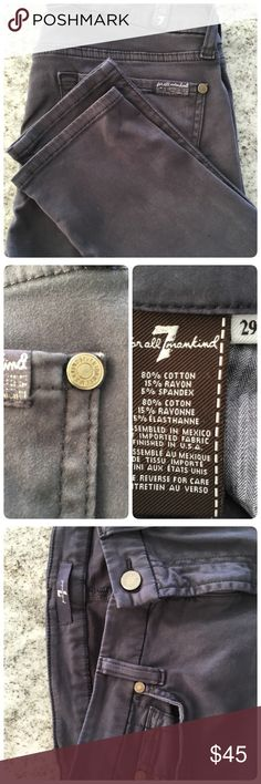 SKINNY JEANS BY 7ForAllMankind Blue/grey skinny jeans, very soft and stretchy denim, size 29, great condition 7 for all Mankind Jeans Skinny