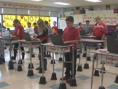 Yay or nay to standing desks? This teacher got creative and saved a lot of $$$