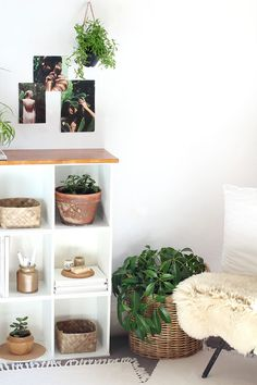 How to make Modern Bookcase using old cube shelving | Eclectic Creative