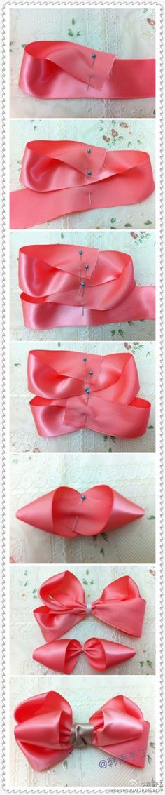 Hair bow tutorial.
