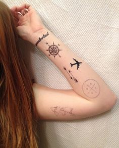 Six Travel Temporary Tattoos // Show off your love for travelling in a non-permanent fashion with these fun temporary tattoos from SmashTat. With six designs that are easy to apply and remove, this is a great gift for any adventurer.
