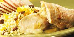 Escalopes de porc aux poires et au brie