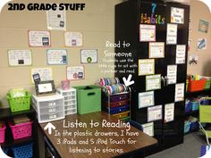 2nd Grade Stuff: The Centers That Have Saved My Classroom!  Love to idea of multiple iPods for listening station.