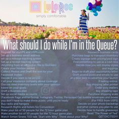 What to do while you're in the LuLaRoe Queue by LuLaRoe Pink&Lee