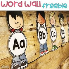 These word wall letters are the perfect addition to your primary classroom word wall. I simply print, cut, and laminate each of the kidlettes. Word Wall Kindergarten, Classroom Word Wall, Kindergarten Classroom Decor, Classroom Labels, New Classroom, Classroom Posters, Primary Classroom, Classroom Displays, Classroom Themes