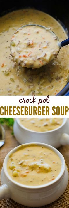 The most creamy and cheesy soup that is loaded with ground beef, potatoes, and carrots. This soup is a family favorite!