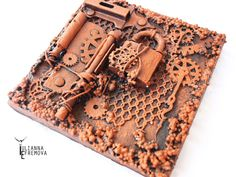"Handmade by Yulianna: MixedMedia Collage ""Rust - 1"" +Video Tutorial"