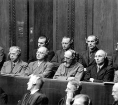 The Holocaust - Yad Vashem. Einzatzgruppen trial at Nuremberg.