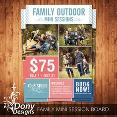 BUY 1 GET 1 FREE Family  Mini Session Outdoor Mini by DonyDesigns, $5.00