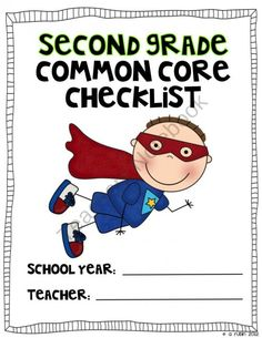 Second Grade Common Core Checklist product from Angela-Rubin on TeachersNotebook.com