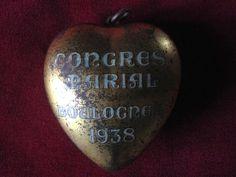 Heart reliquary ex voto dated 1938 prayer by lesjardinsdeleanor, $85.00