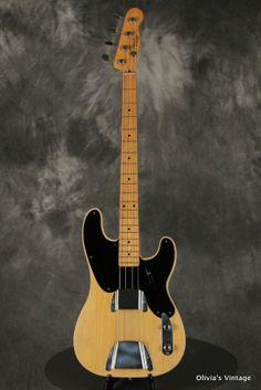 1953 All Original Fender PRECISION P-Bass Blonde