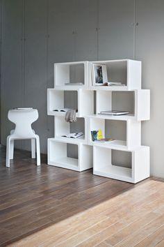 Libreria Meta, colore bianco. 21st Living Art.
