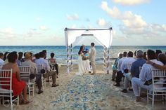 Beautiful beach ceremony at the @Now Resorts & Spas in the Riviera Maya.  Mexico wedding photographers Del Sol Photography