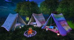 Sheep Clouds: Camp Tent by Sway's@  Arcade