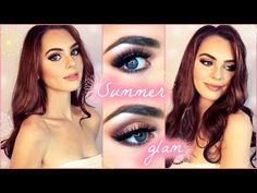 GRWM: Summer Go-To Glam Makeup Tutorial! Copper & Pinks | Jackie Wyers - YouTube
