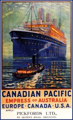 Canadian Pacific Empress of Australia Travel by BloominLuvly
