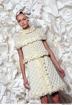 chanel paper dress