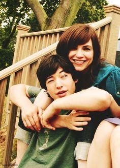 Ezra Miller and Julianna Margulies