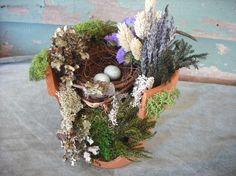 Love the idea of using a broken clay pot.