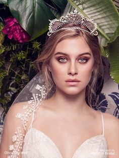 Take on a crystal tiara, Handmade with brass ornaments, Swarovski crystals hand set in brass settings and cream seed beads. A statement piece to keep forever.