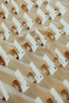 Cork Escort Card Holders: great for fall or winery wedding!