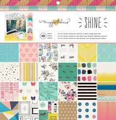 Crate Paper - Maggie Holmes Collection - Shine - 12 x 12 Paper Pad