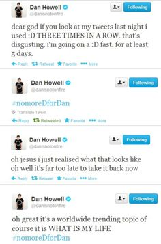 #NoMoreDForDan // I'M LAUGHING SO HARD I SWEAR HE HAS THE MOST AWKWARD BAD LUCK EVER!!