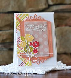 Wishing You All The Best Card by Amy Sheffer for Papertrey Ink (May 2015)