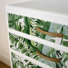 Unique upcycled vintage Tallboy / storage space in green & white with eye-catching … - Creative Upcycled Furniture Refurbished Furniture, Repurposed Furniture, Furniture Makeover, Antique Furniture, Painted Furniture, Leather Furniture, Diy Furniture Upcycle, Furniture Projects, Home Furniture
