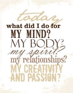 Need to ask myself this everyday! :)