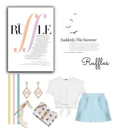 """""""The Ruffle"""" by zoe-keredy ❤ liked on Polyvore featuring Sara Weinstock, Temperley London, Elie Saab, Yves Saint Laurent and Steve Madden"""