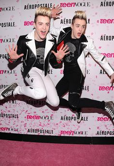 john & edward because they are...JEDWARD! & theyve got skills at jumping.