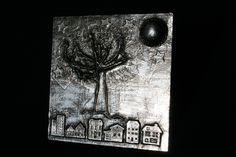"Wanddeko - Metal Art Bild ""Tree of Life"" Aluminium Art, 3D - ein Designerstück von Angelas_Kreativwelt bei DaWanda"