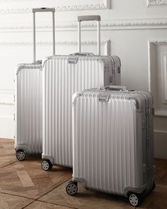 """""""Topas"""" Collection Luggage by Rimowa North America at Neiman Marcus. Rimowa Luggage, Travel Luggage, Travel Bags, Travel Chic, Travel Style, Luggage Sets, Pink Luggage, Hotel Uniform, Travel Light"""