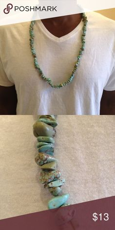 """Stone Coral Been Unisex Chain Lei Ships within 24 hours!  New with Tags!  New with Tag!  24"""" Long  Green with brown highlights.  Search: hip hop, beach, sun, summer, vacation, necklace, fashion, jewelry, men, women, boys, girls Accessories Jewelry"""