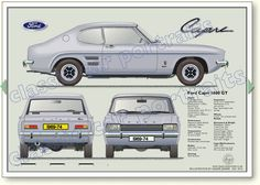 Ford Capri 1600 GT classic car portrait print – - Auto X Ford Capri, Mk1, Classic Cars British, Ford Classic Cars, Mustang, Automobile, Mercury Capri, Cars Uk, Classic Mercedes