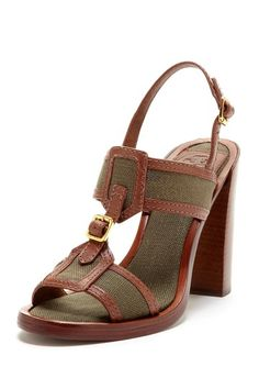 Tory Burch Florian Heel Sandal by Simply Sandals on @HauteLook
