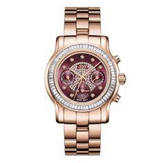 JBW Women's J6330G Laurel 0.09 ctw 18K Rose Gold-Plated Stainless Steel Diamond Watch