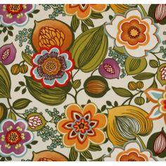 Wild Garden in Off White Indoor/Outdoor Fabric PO318