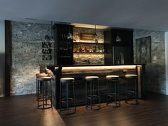 When setting up a basement bar there are some must have items you must have around or your basement bar won't really be a bar but just a basement pretending to be. Rustic Basement Bar, Basement Bar Plans, Basement Bar Designs, Home Bar Designs, Basement Kitchen, Basement Remodeling, Basement House, Home Bar Counter, Whiskey Room