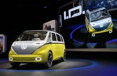 Reuters/Brendan McDermid Volkswagen's Electric, AI-Equipped Microbus Will Drive You Into the Future      Powered by two electric motors, Volkswagen's I.D. Buzz concept microbus can travel up to 270 miles on a single charge and accelerate from zero to 60 mph in five seconds.     This futuristic upgrade to the classic microbus is another step toward Volkswagen's goal of releasing 30 electric or hybrid vehicle models by 2025.